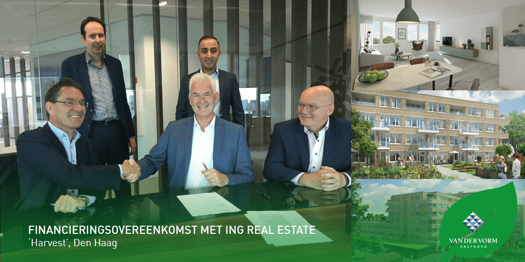 Financieringsovereenkomst met ING Real Estate voor Harvest