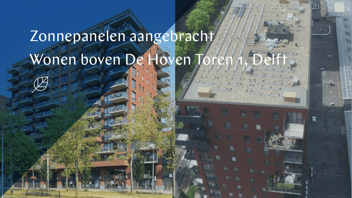 Solar panels Tower 1 Wonen boven De Hoven installed
