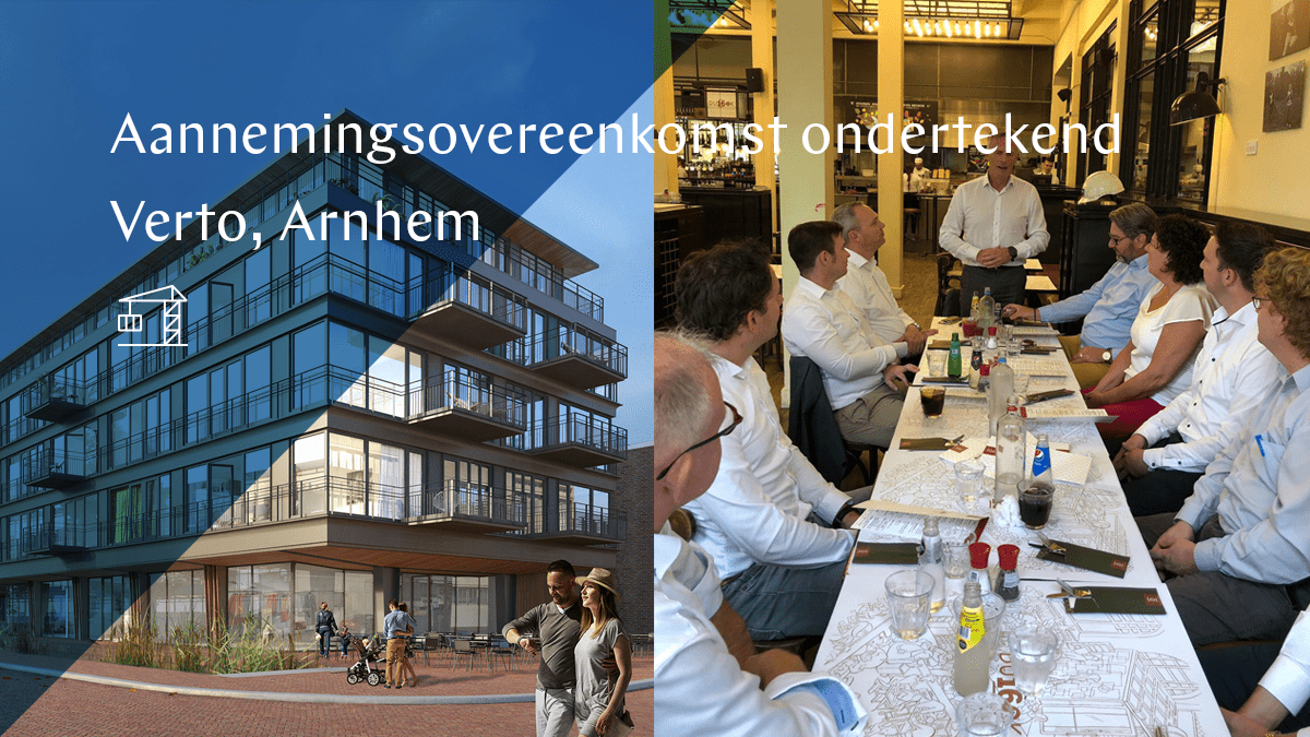 Building contract Verto Arnhem signed
