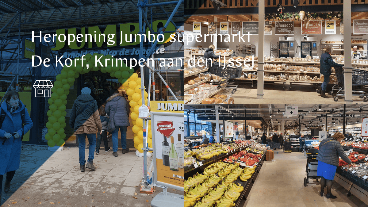 Jumbo supermarkt De Korf heropend